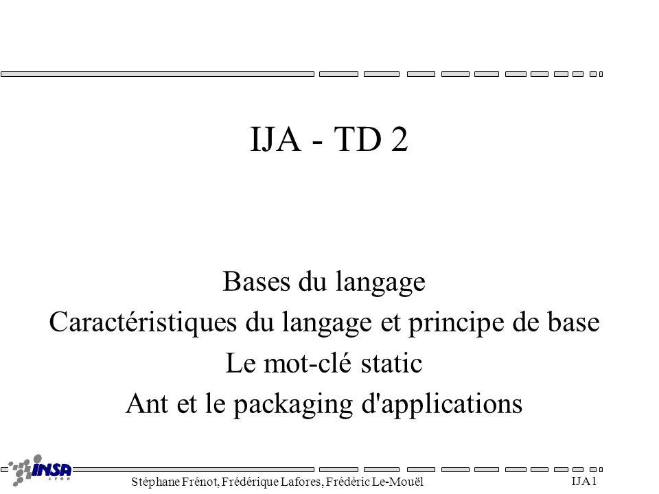 IJA - TD 2 Bases du langage