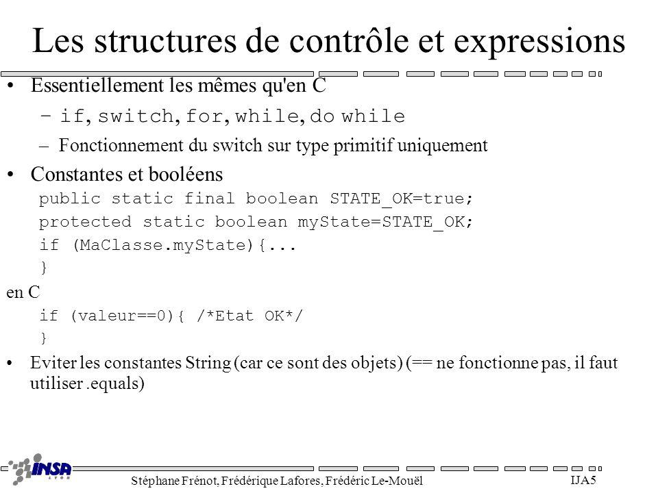 Les structures de contrôle et expressions