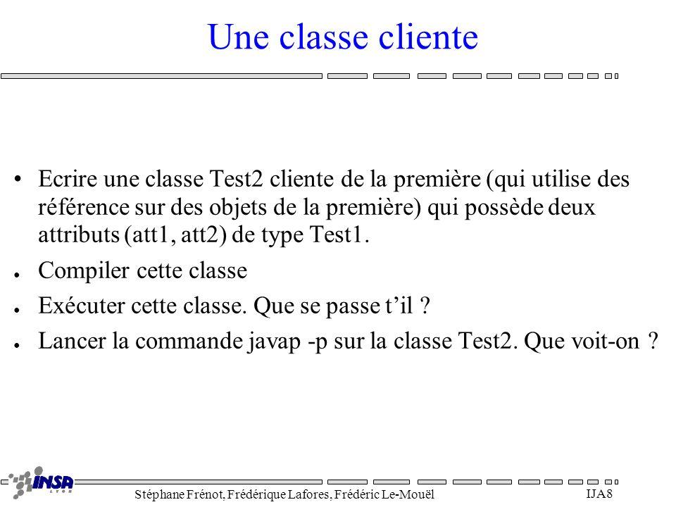 Une classe cliente