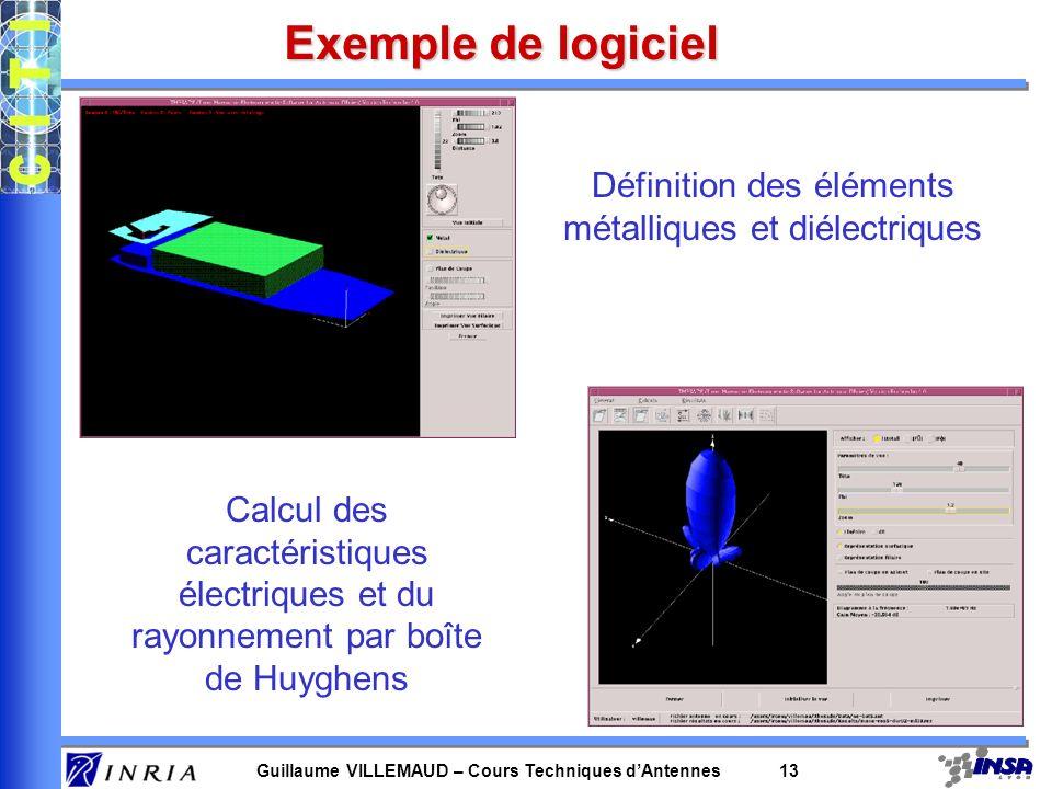 Définition des éléments métalliques et diélectriques