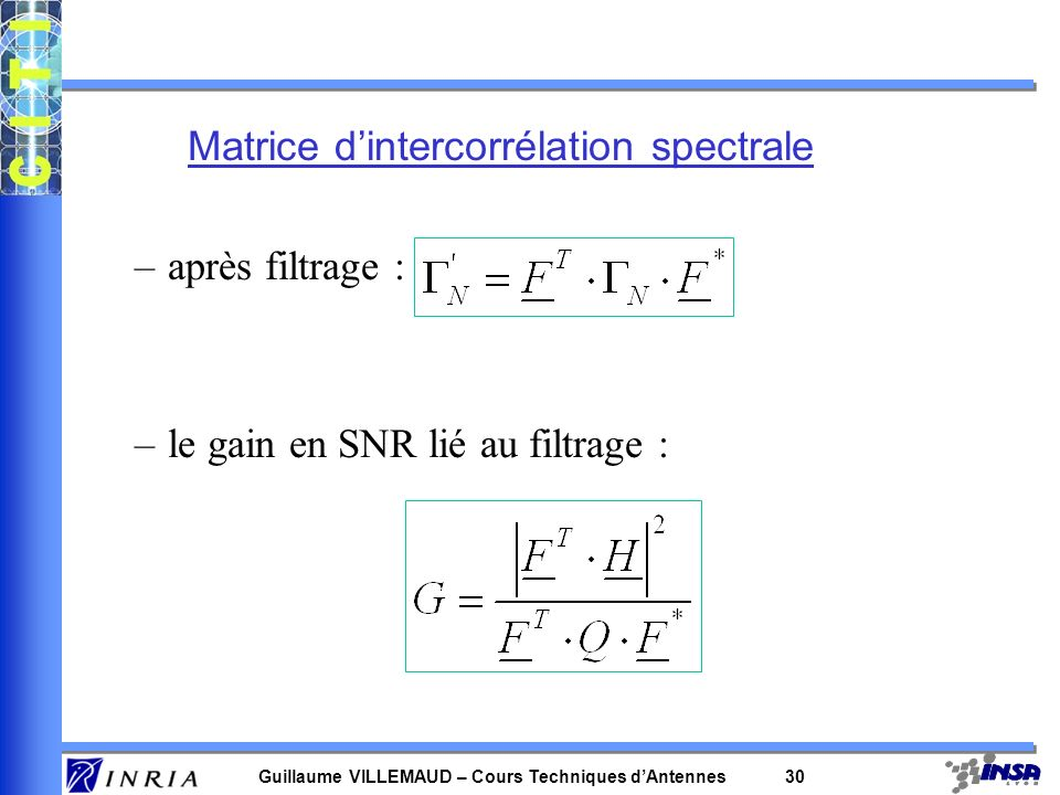 Matrice d'intercorrélation spectrale
