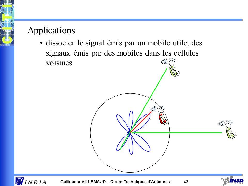 Applicationsdissocier le signal émis par un mobile utile, des signaux émis par des mobiles dans les cellules voisines.