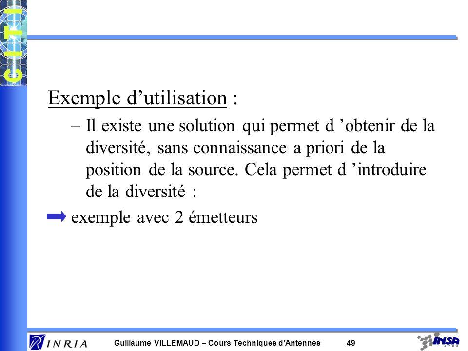 Exemple d'utilisation :