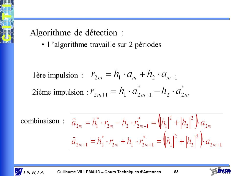 Algorithme de détection :