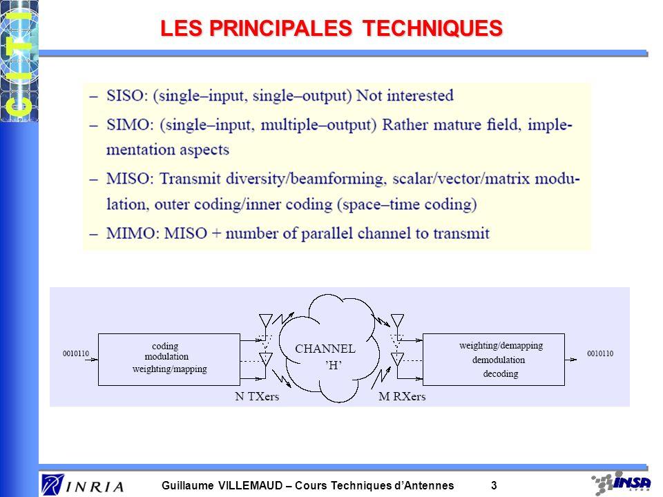 LES PRINCIPALES TECHNIQUES
