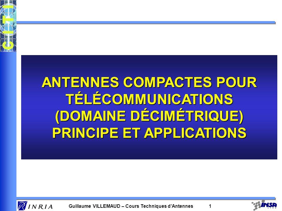 ANTENNES COMPACTES POUR TÉLÉCOMMUNICATIONS (DOMAINE DÉCIMÉTRIQUE)