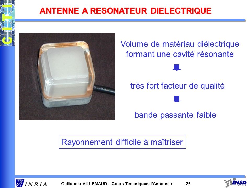 ANTENNE A RESONATEUR DIELECTRIQUE