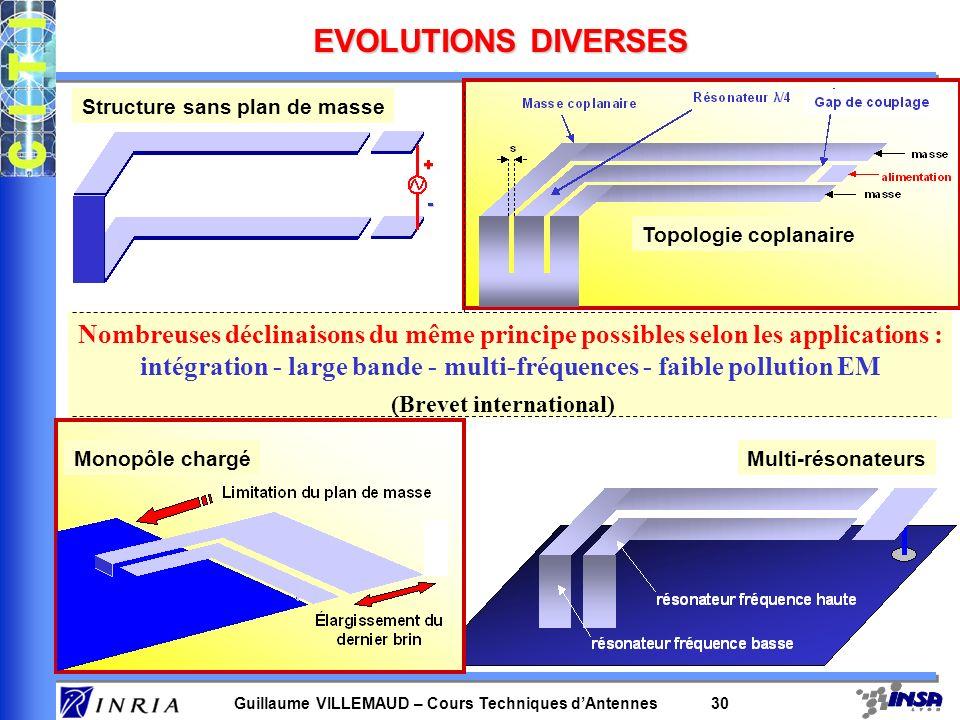 intégration - large bande - multi-fréquences - faible pollution EM