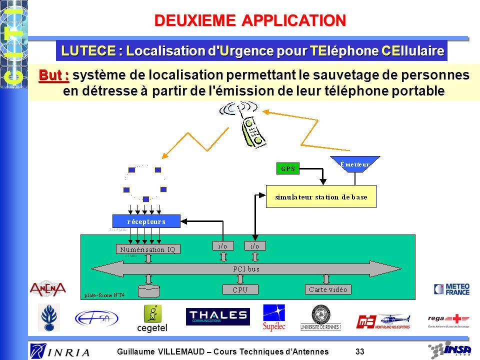 DEUXIEME APPLICATION LUTECE : Localisation d Urgence pour TEléphone CEllulaire.