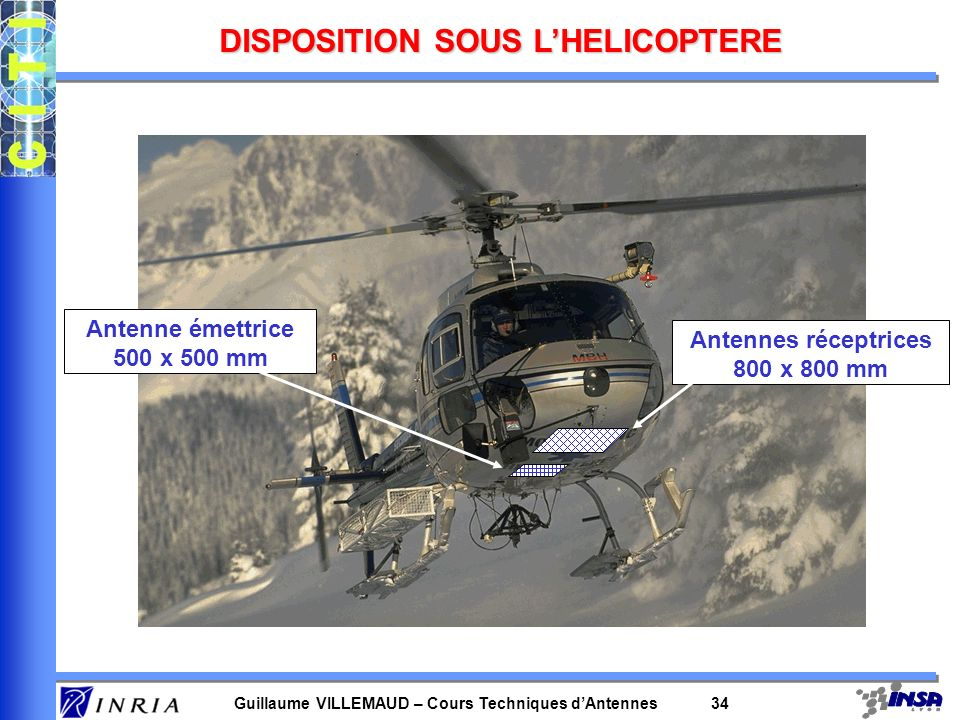 DISPOSITION SOUS L'HELICOPTERE