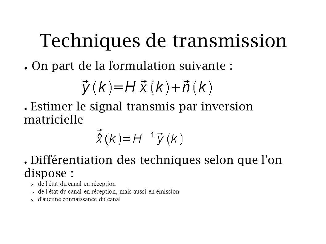 Techniques de transmission