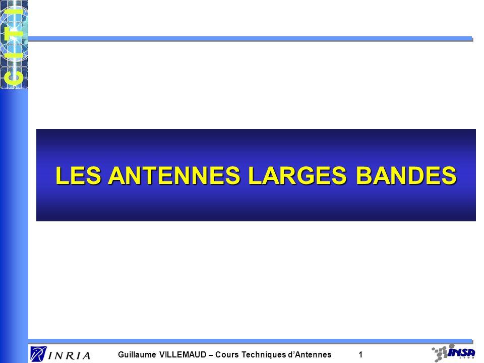 LES ANTENNES LARGES BANDES