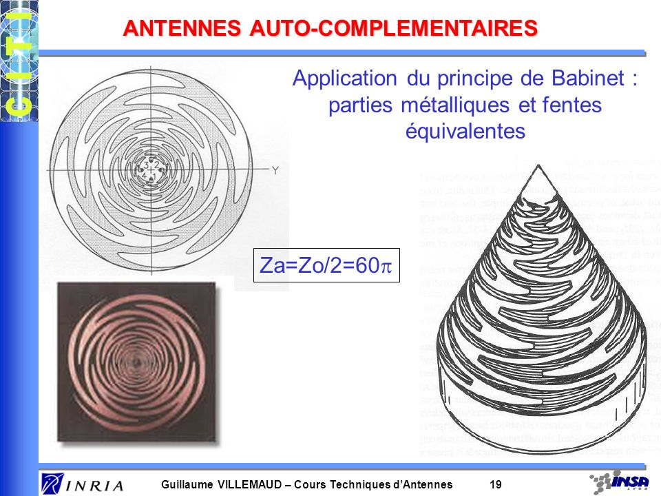 ANTENNES AUTO-COMPLEMENTAIRES