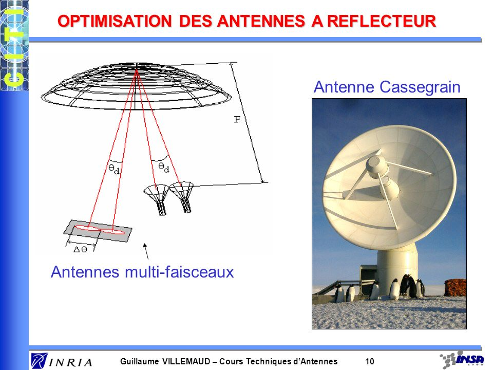 OPTIMISATION DES ANTENNES A REFLECTEUR