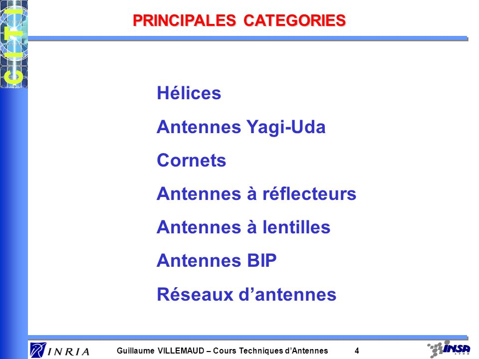 PRINCIPALES CATEGORIES