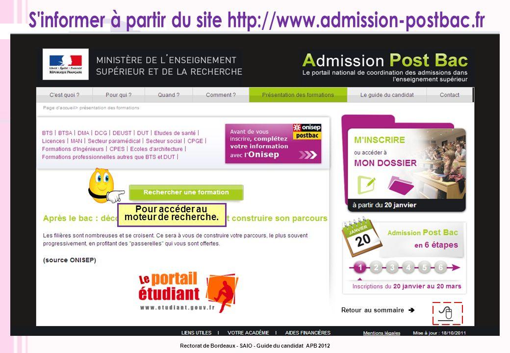 S informer à partir du site http://www.admission-postbac.fr