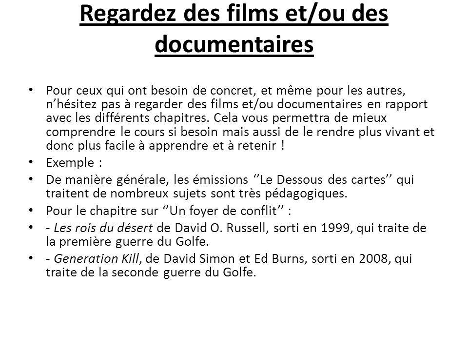 Regardez des films et/ou des documentaires