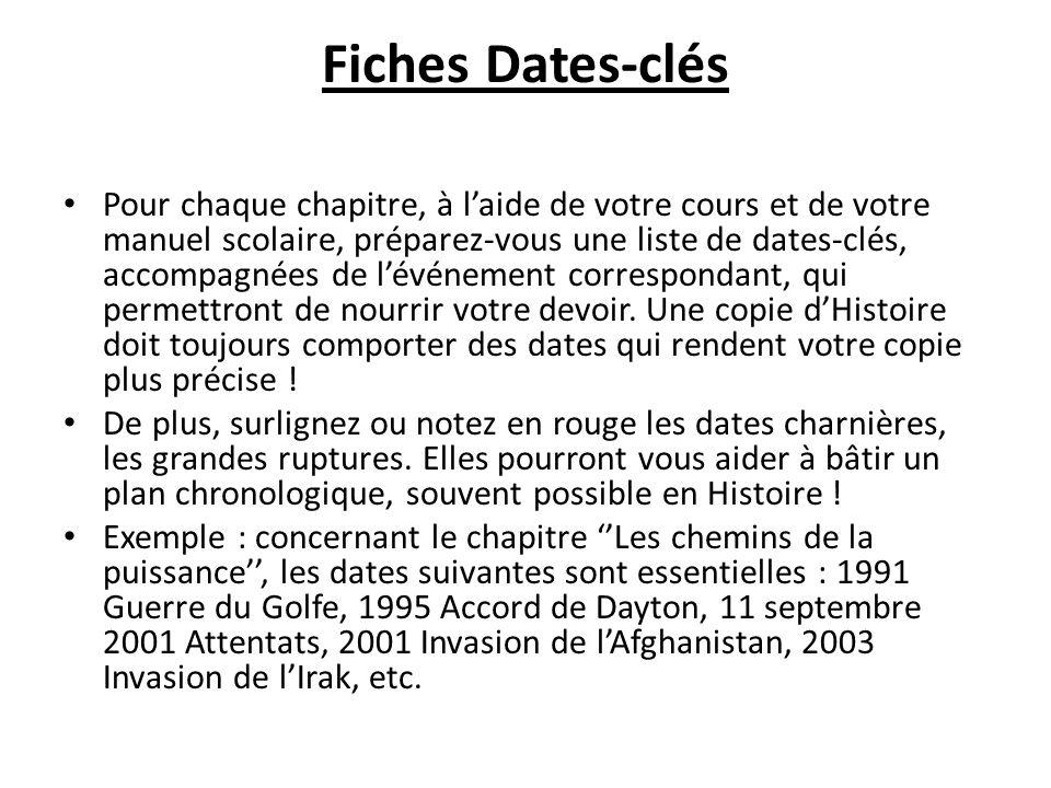 Fiches Dates-clés