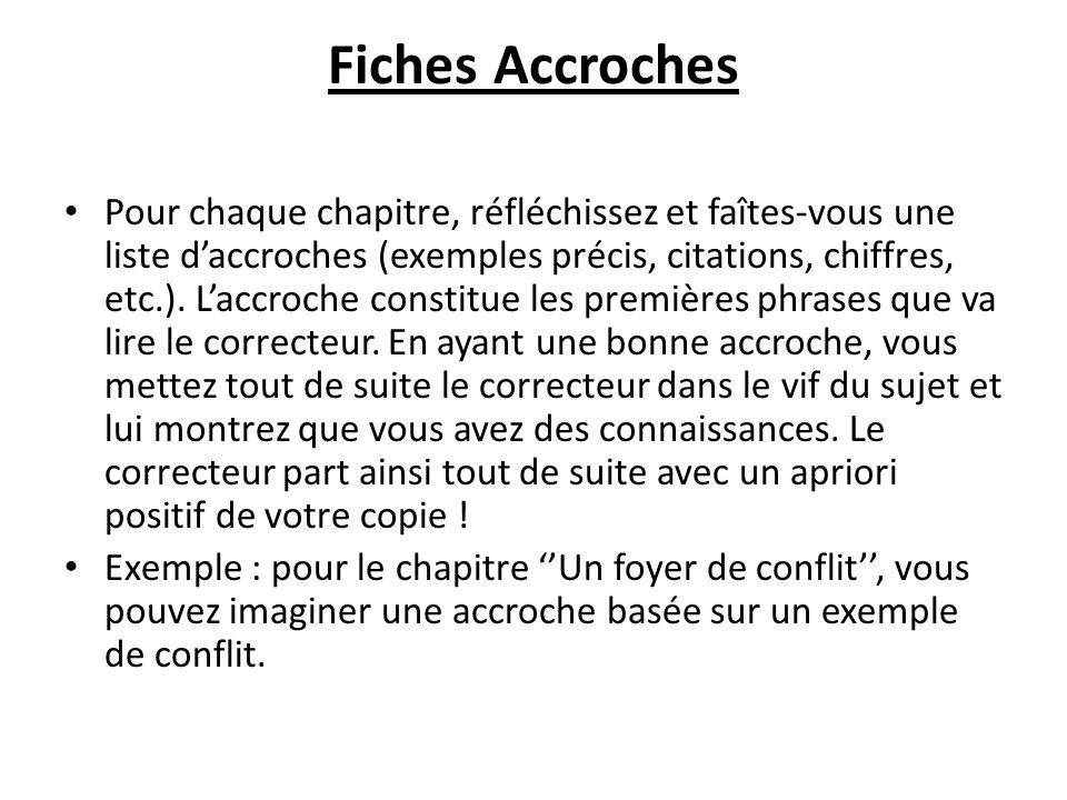 Fiches Accroches