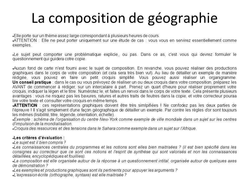 La composition de géographie