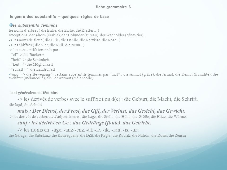 sauf : les dérivés en Ge : das Gedränge (foule), das Getriebe.