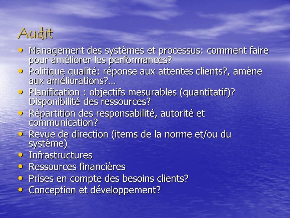 Audit Management des systèmes et processus: comment faire pour améliorer les performances