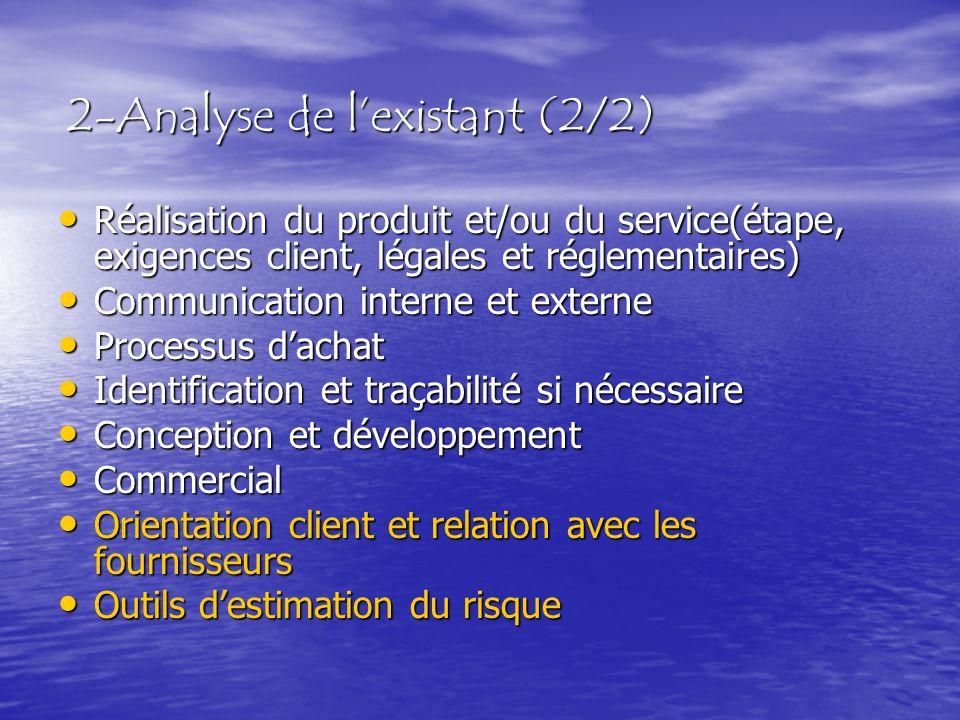 2-Analyse de l'existant (2/2)
