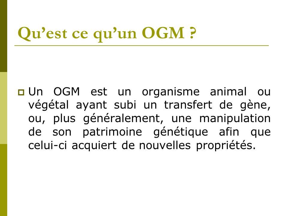 Qu'est ce qu'un OGM