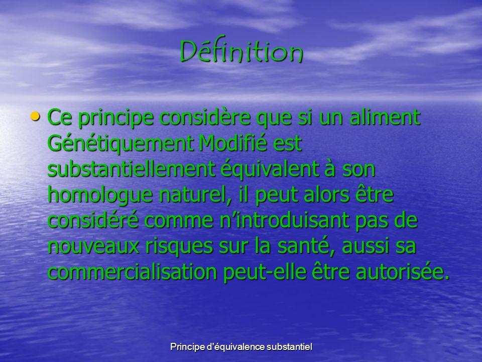 Principe d équivalence substantiel