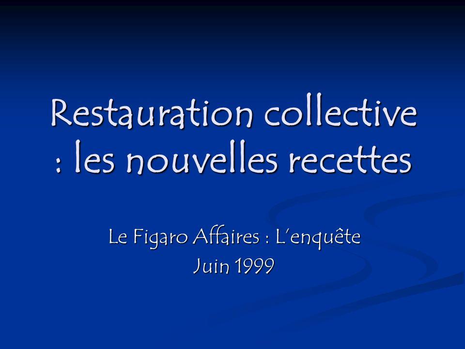 Restauration collective : les nouvelles recettes