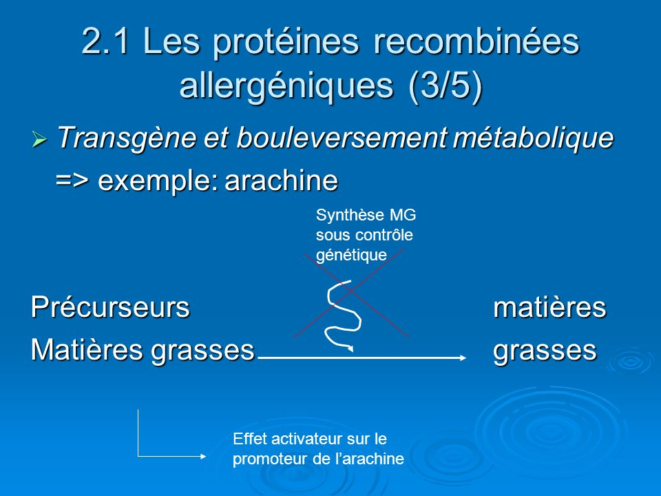 2.1 Les protéines recombinées allergéniques (3/5)