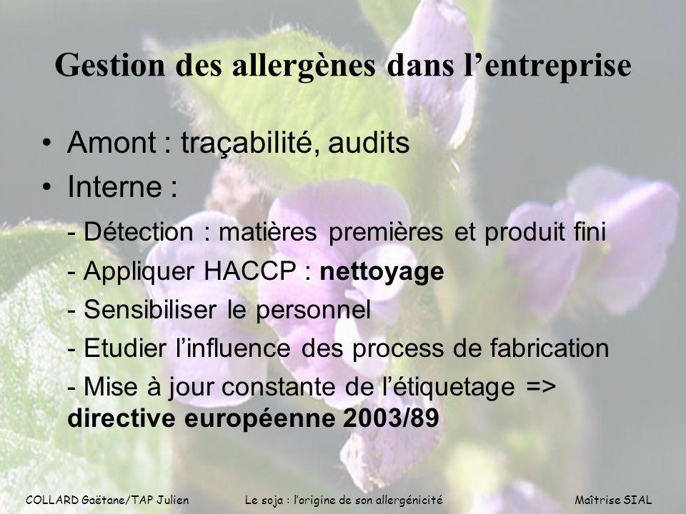Gestion des allergènes dans l'entreprise