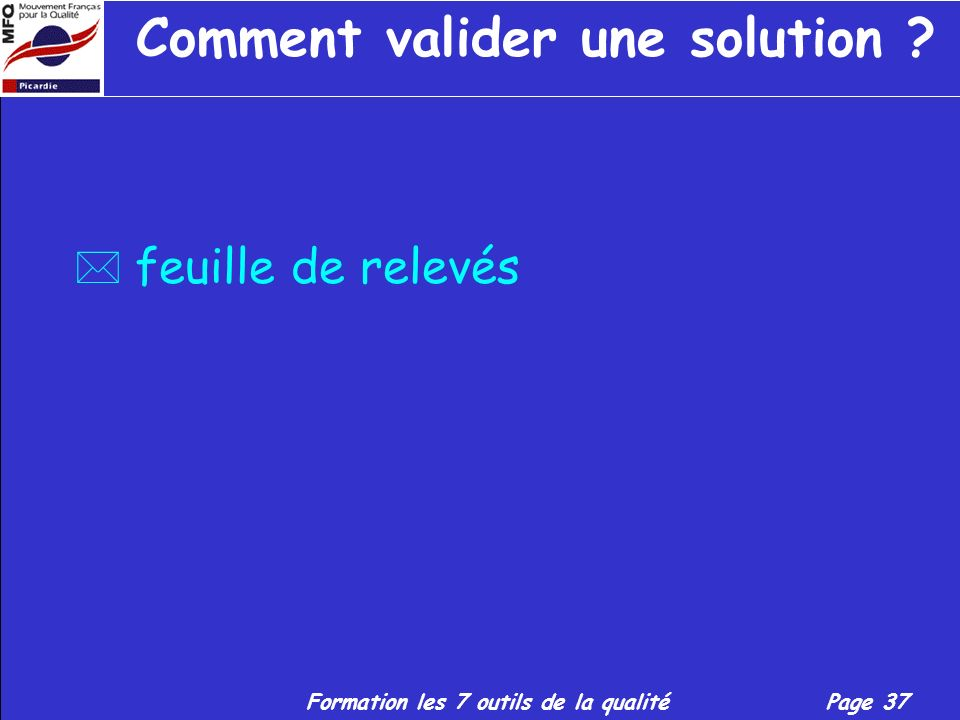 Comment valider une solution