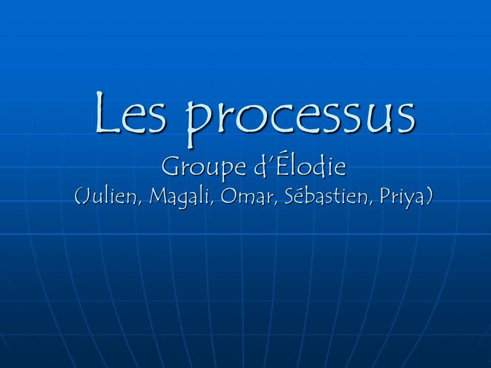 Les processus Groupe d'Élodie (Julien, Magali, Omar, Sébastien, Priya)