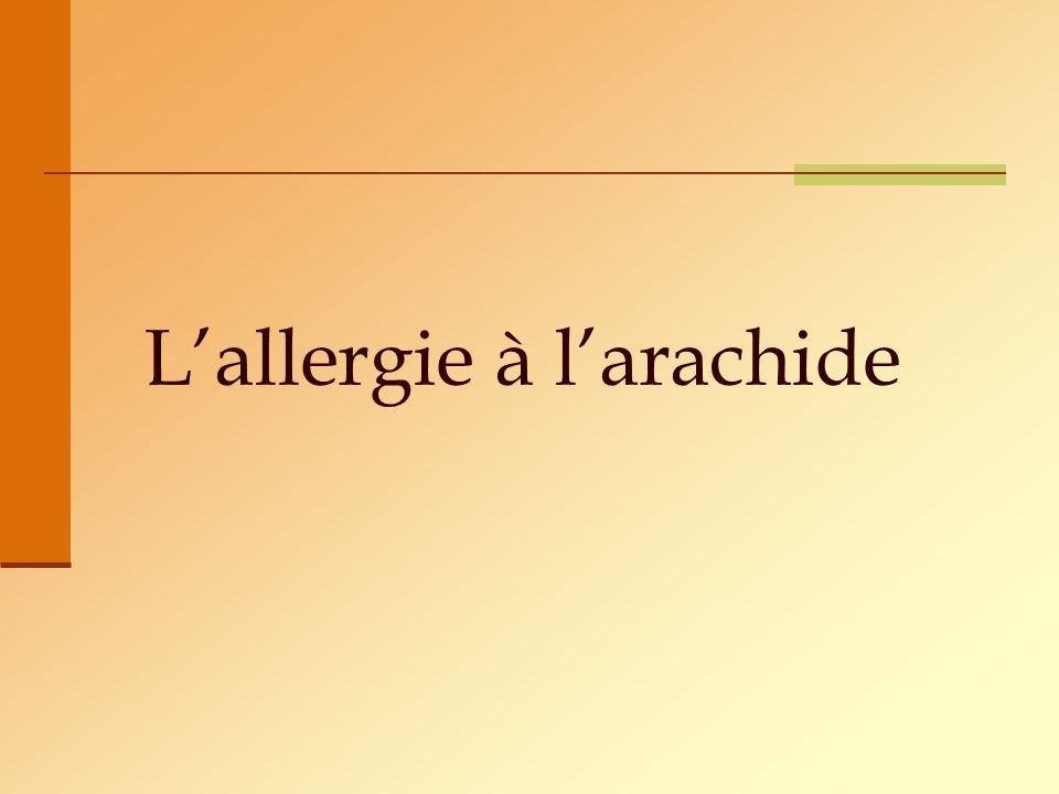 L'allergie à l'arachide