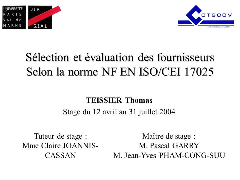 TEISSIER Thomas Stage du 12 avril au 31 juillet 2004