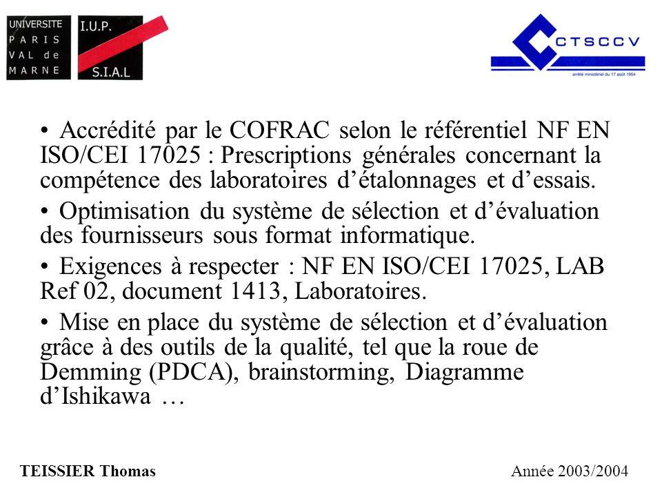 Accrédité par le COFRAC selon le référentiel NF EN ISO/CEI 17025 : Prescriptions générales concernant la compétence des laboratoires d'étalonnages et d'essais.