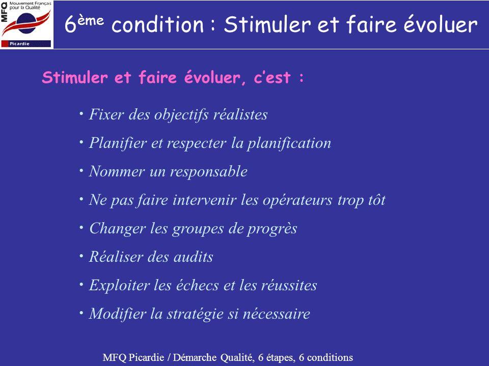 6ème condition : Stimuler et faire évoluer