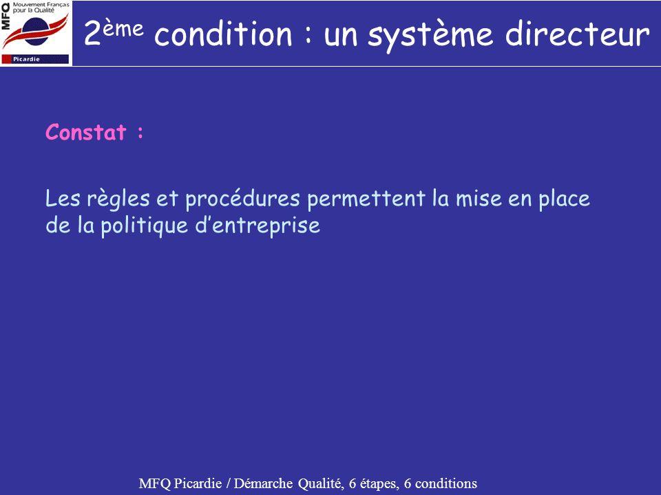 2ème condition : un système directeur