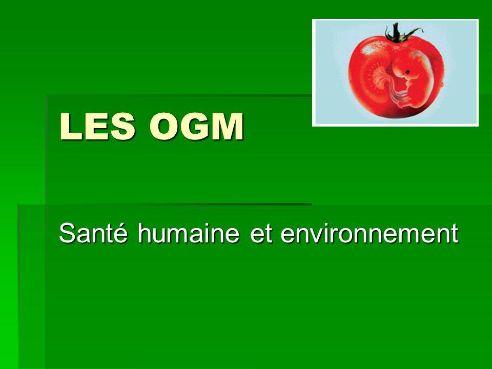 Santé humaine et environnement