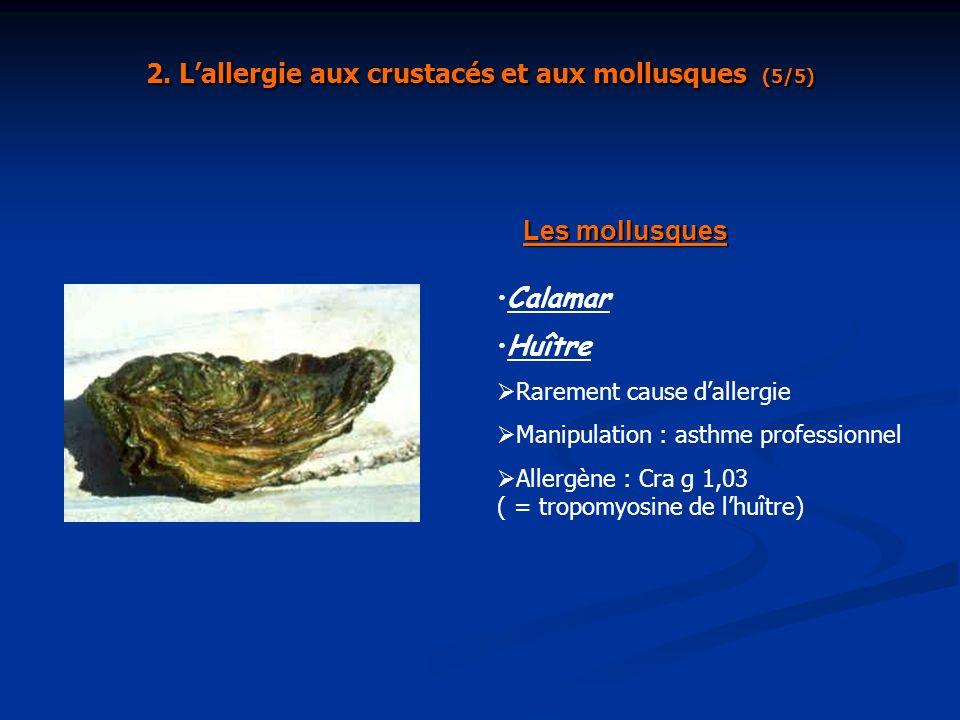 2. L'allergie aux crustacés et aux mollusques (5/5)