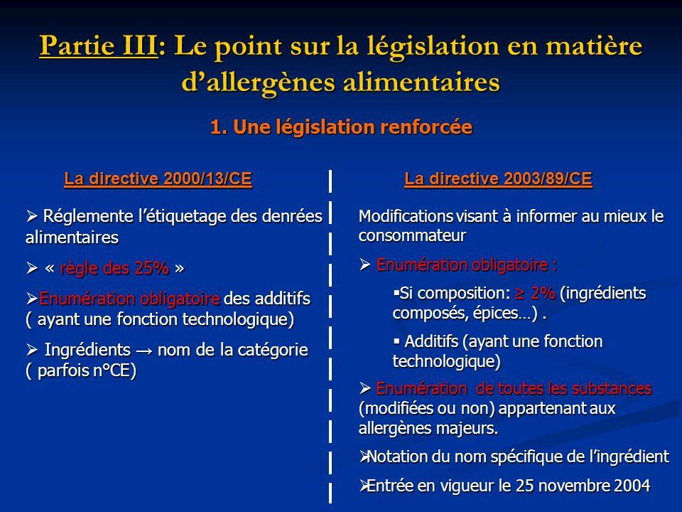 1. Une législation renforcée