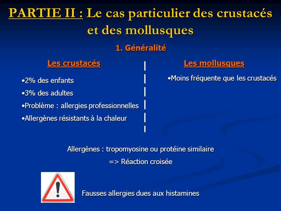 PARTIE II : Le cas particulier des crustacés et des mollusques