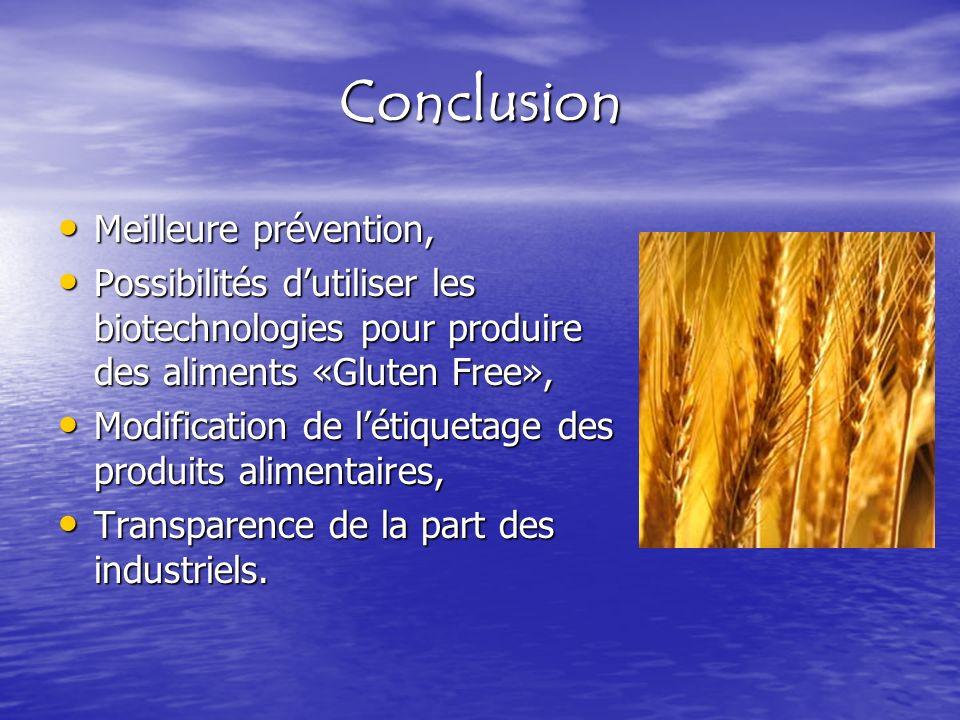 Conclusion Meilleure prévention,