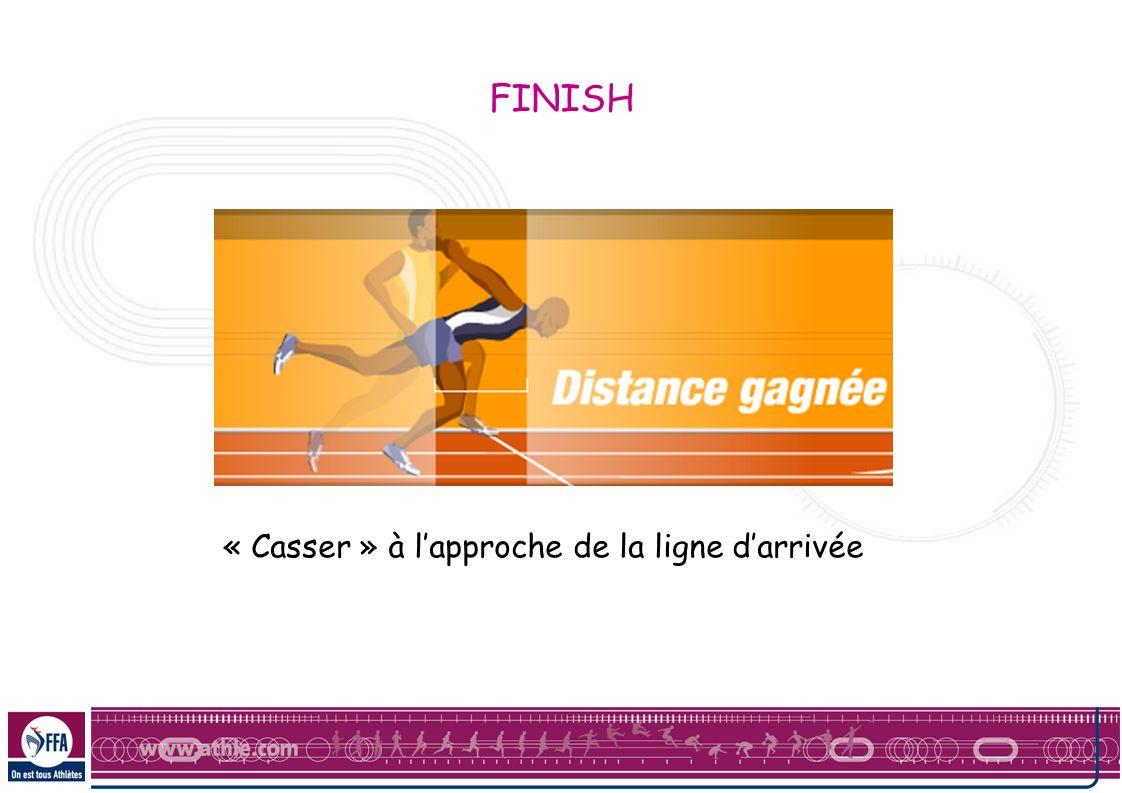 FINISH « Casser » à l'approche de la ligne d'arrivée