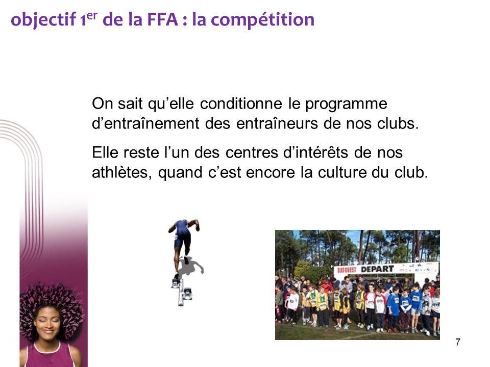 objectif 1er de la FFA : la compétition