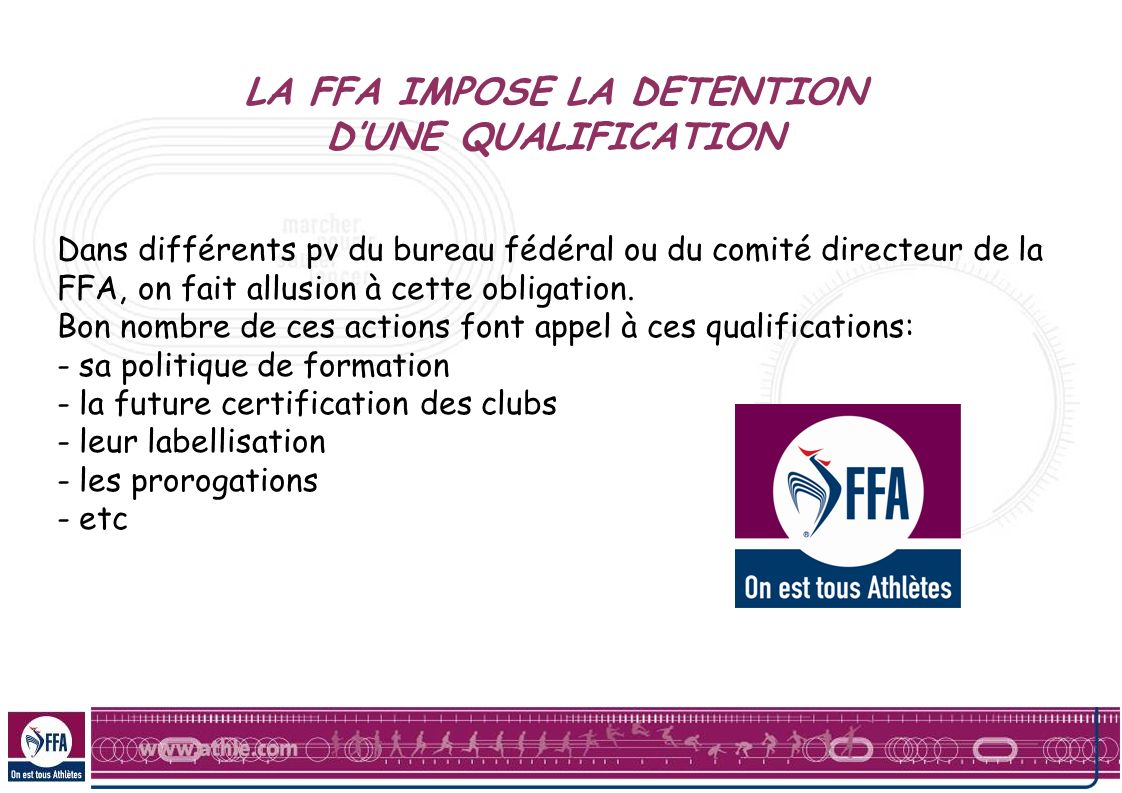 LA FFA IMPOSE LA DETENTION