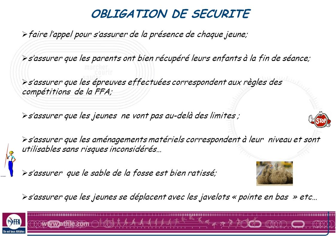 OBLIGATION DE SECURITE