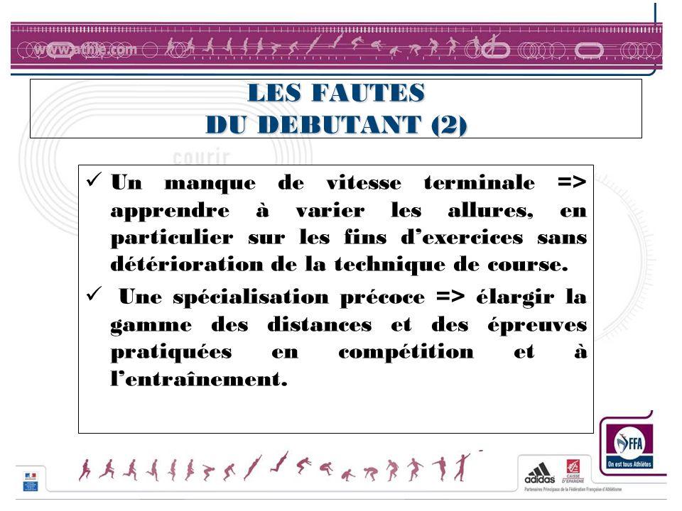 LES FAUTES DU DEBUTANT (2)