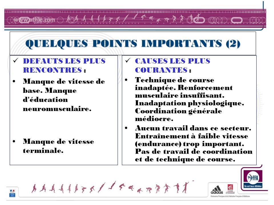 QUELQUES POINTS IMPORTANTS (2)
